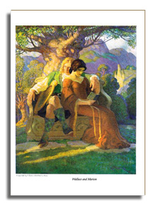 Wallace and Marion - Illustration by N.C. Wyeth